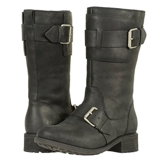 b30870eecf8 🎁Chancey Black Leather Calf Biker Boots In box! NWT